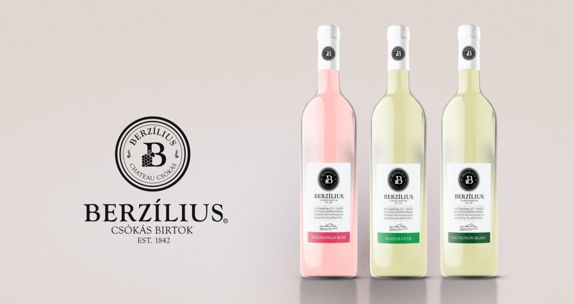 Berzilius wine label design