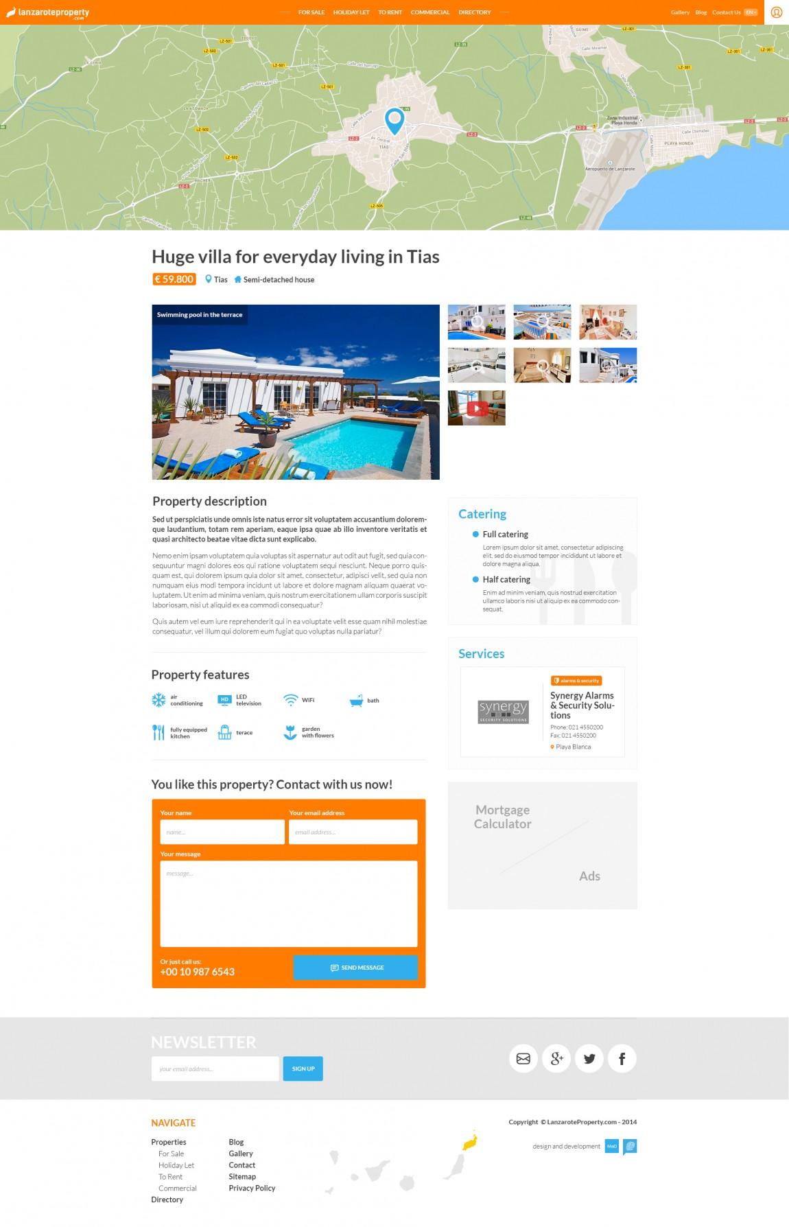 Lanzarote property website