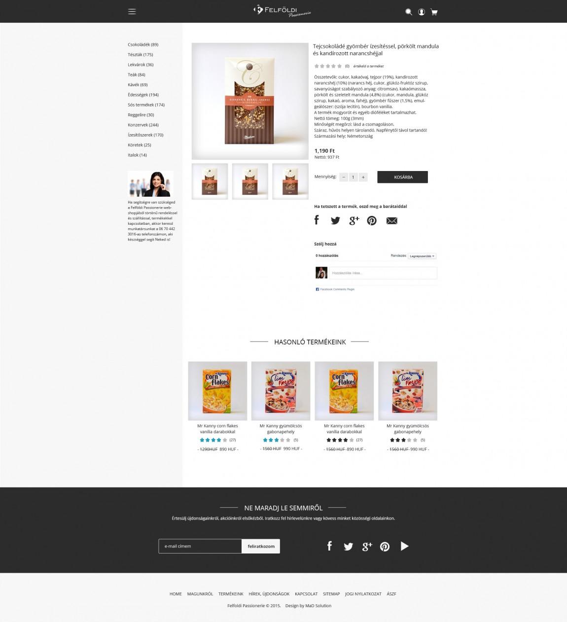 Felfoldi Passionerie webdesign