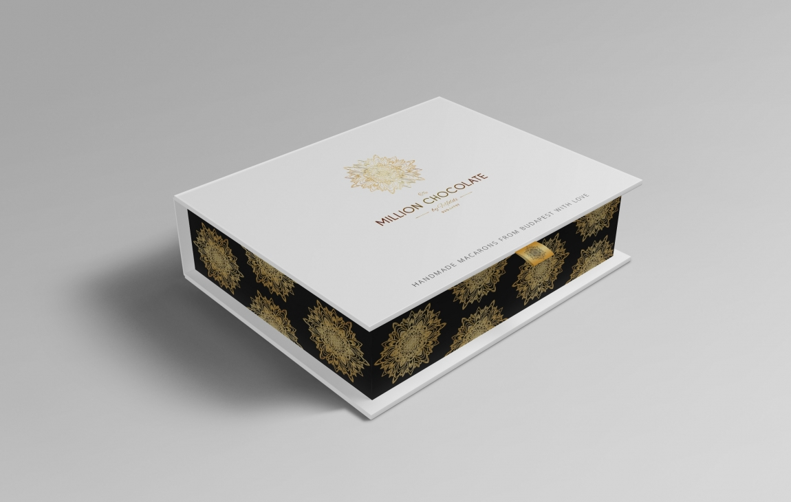 Wedding Gifts Packing Designs: Macaron Gift Box Packaging Design