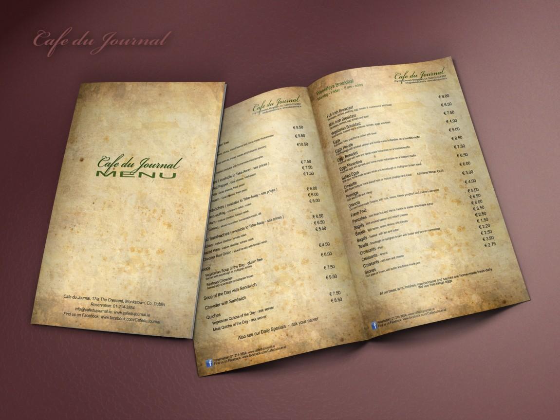 Cafe du Journal menu